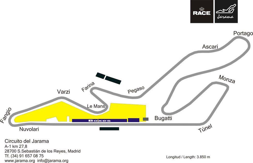 Circuito Jarama : Plano del circuito jarama