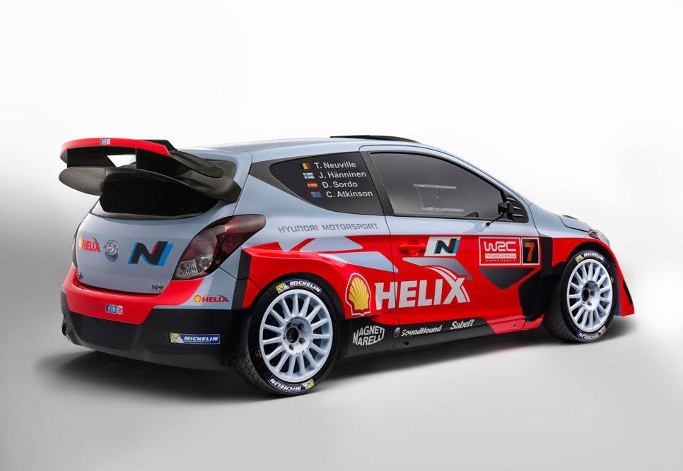 Hyundai i20 WRC trasera