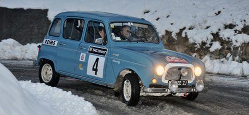 Ranault 4 en el Rally de Montecarlo