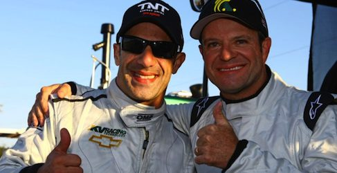 Rubens Barrichello con Tony Kanaan