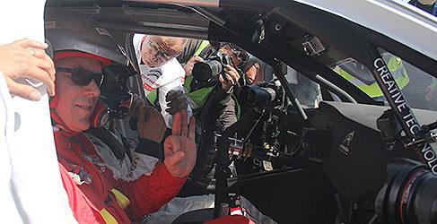 El Príncipe Alberto al volante con Loeb