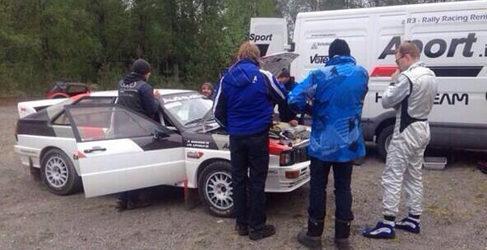 Jari-Matti Latvala de test con su Audi Quattro