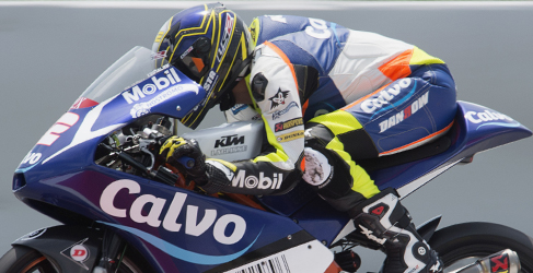 Jack Miller vuela bajo desde el FP1 de Moto3 en Assen