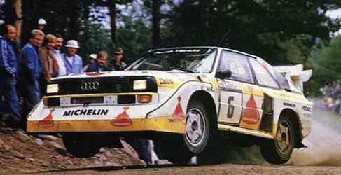 Juha Kankkunen con el Audi Quattro Grupo B en Finlandia