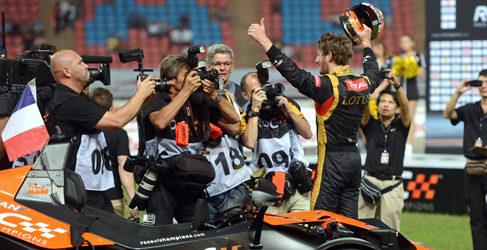Kristensen y Grosjean en la Race of Champions 2014