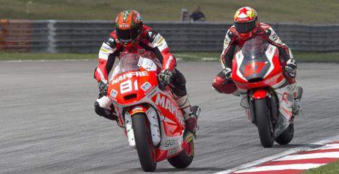 Rabat recuerda su mandato en Moto2 en el warm up