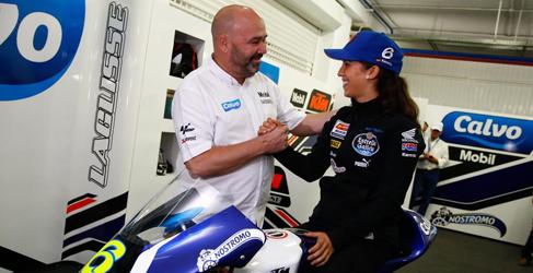 María Herrera llevará una Husqvarna en el Calvo Team de Moto3