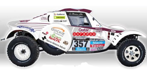 Albert Llovera al Dakar 2015 con un Buggy Optimus MD