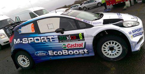 Elfyn Evans y Ott Tänak se enfrentan al Rally de México