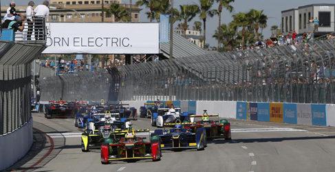 Recital de Nelson Piquet Jr. en el ePrix de Long Beach