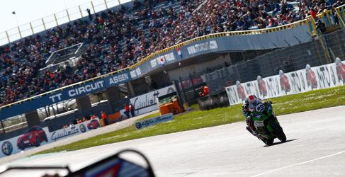 Victoria de Rea en Assen con podio de van der Mark