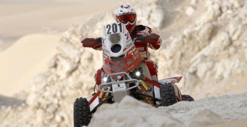 Inscritos en la categoría de motos y quads en el Pharaons Rally