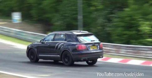 Bentley Bentayga SUV a todo gas en Nürburgring