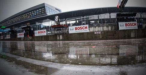 Se supende el warmup en Austria por la intensa lluvia