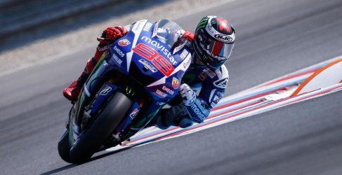 Jorge Lorenzo también el más rápido en el warm-up de Brno