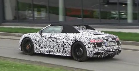 Prototipo del Audi R8 Spider en vídeo en Nürburgring