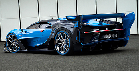 Bugatti Vision Gran Turismo en los flashes de Frankfurt