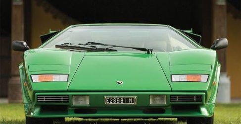 RM Sotheby's subasta Lamborghini Countach LP400S en Verde Metallizzato