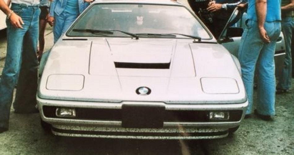 Imagen de época del primer BMW M1