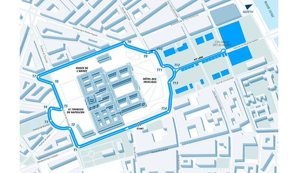 Así será el circuito para el ePrix de París
