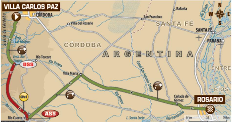 Mapa de la etapa 14.