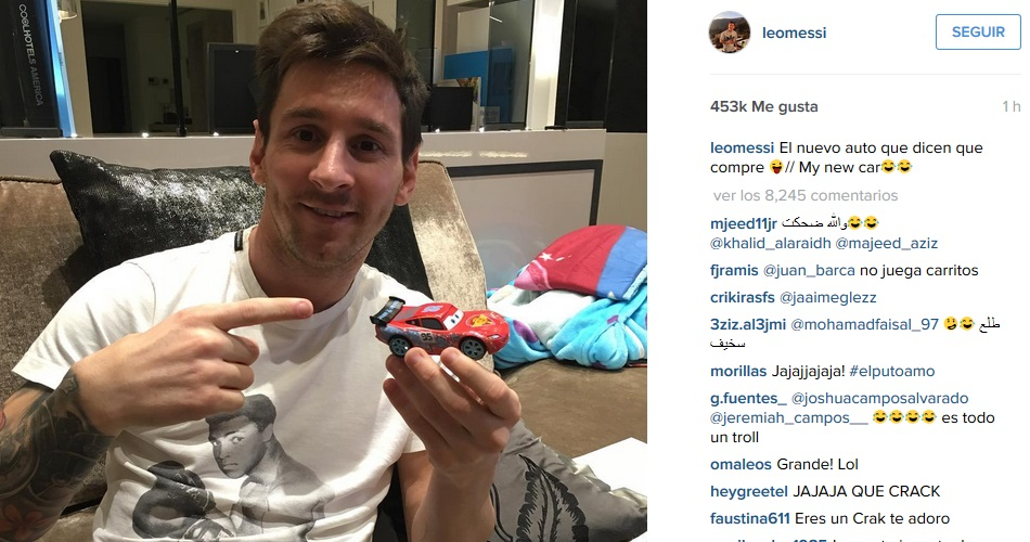 Leo Messi desmiente de manera jocosa que comprase el Ferrari 335 Sport Scaglietti