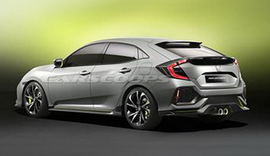 Se filtran las primeras imágenes del nuevo Honda Civic 2016