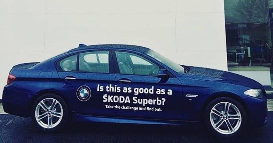 Concesionario Skoda ofrece pruebas en un BMW Serie 5 a sus clientes