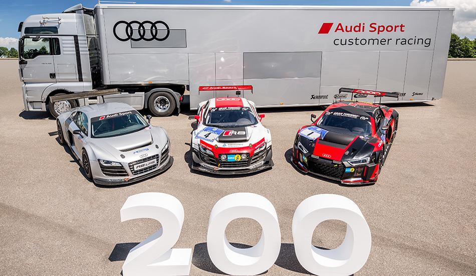 Audi produce el R8 LMS número 200