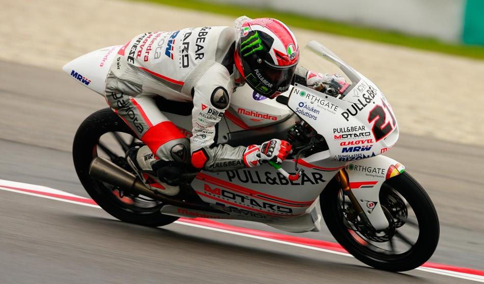 Moto3: Binder sobre mojado