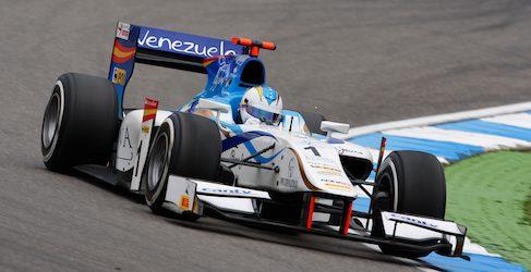 Johnny Cecotto arriesga en la estrategia y gana la carrera larga de Hockenheim en GP2