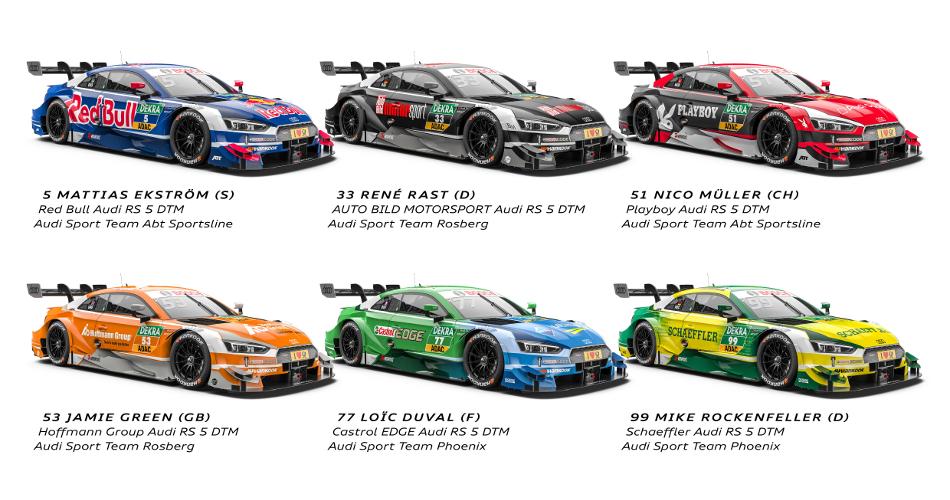 Audi presenta sus 6 Audi RS5 DTM para 2017