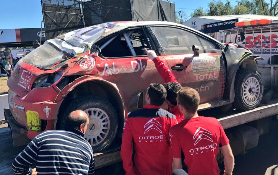 VIDEO   Espectacular trabajo de los mecánicos de Citroën para 'reconstruir' el C3 WRC de Kris Meeke