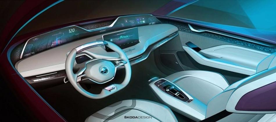 Skoda confirmó el Vision E modificado para Frankfurt