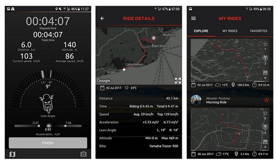 El app MyRide de Yamaha