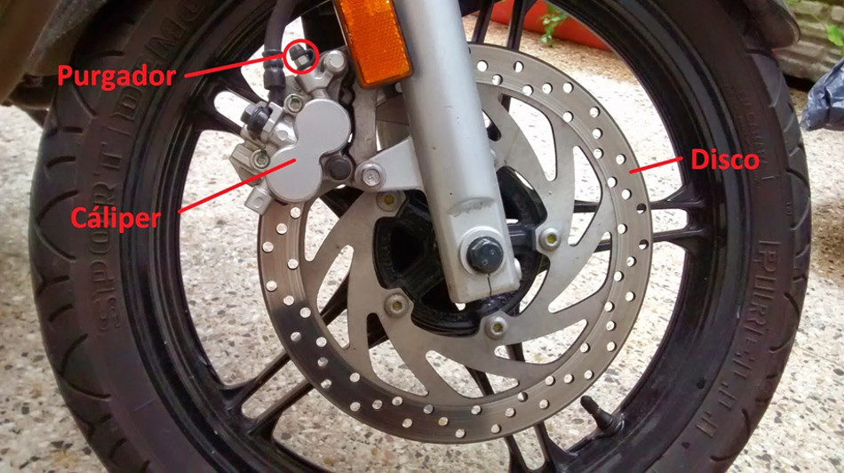 Todo sobre el sistema de frenos en las motos