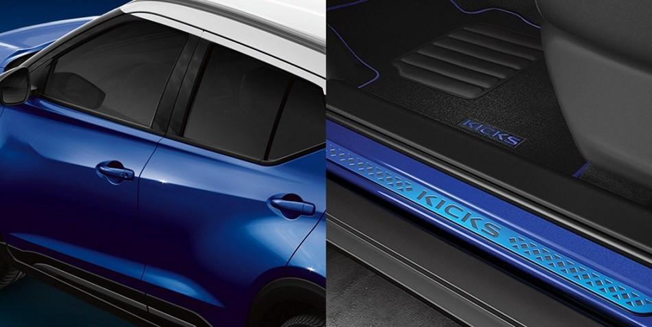 Nissan Kicks Fan Edition en hermoso azul con techo blanco