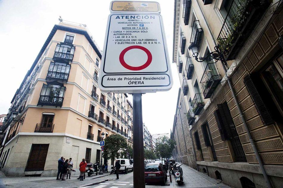 Algunos coches no podrán circular por las APR de Madrid