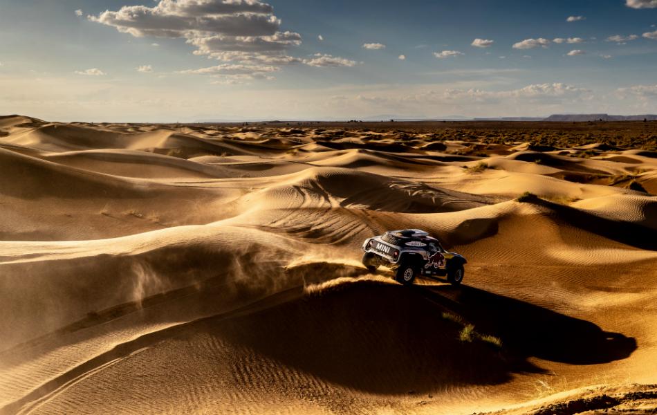 Sainz y el buggy de Mini: con velocidad pero sin fiabilidad