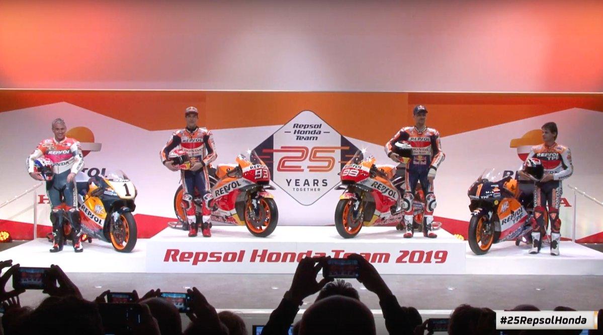 La presentación del Repsol Honda, por todo lo alto