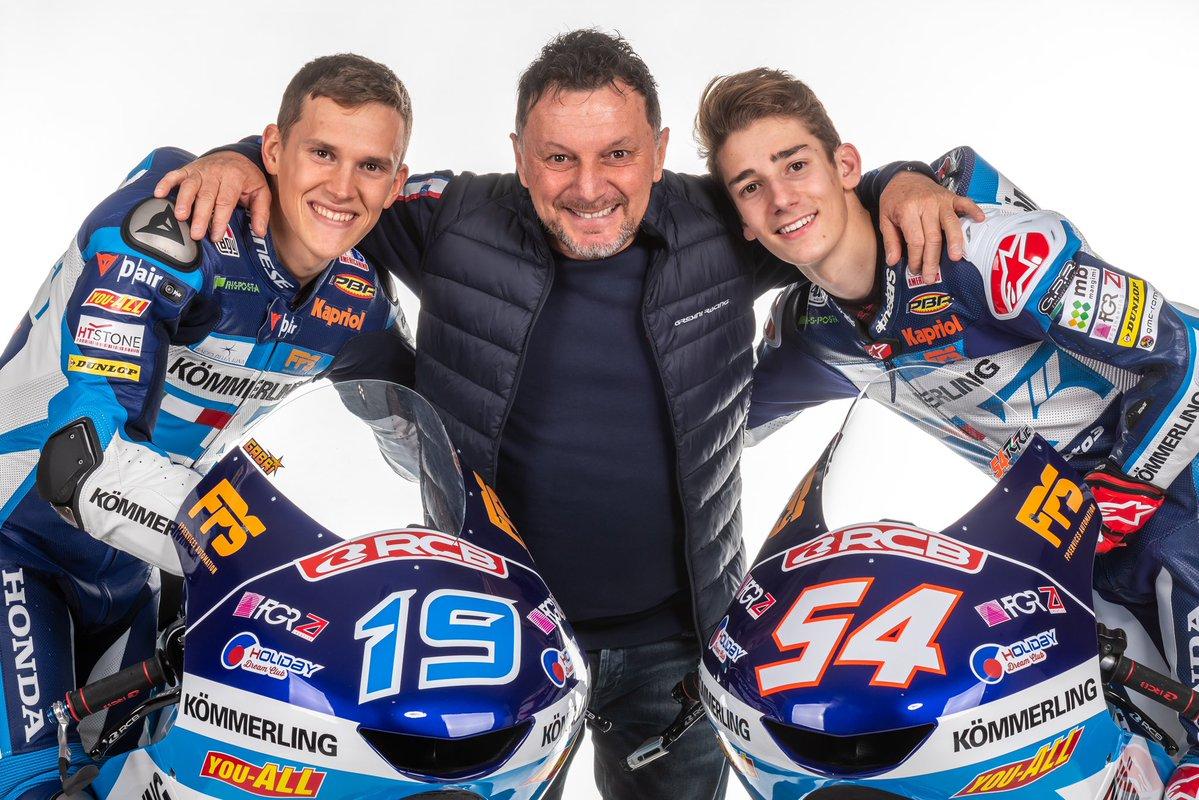 Gresini y sus pilotos de Moto3 hablan en la presentación del equipo