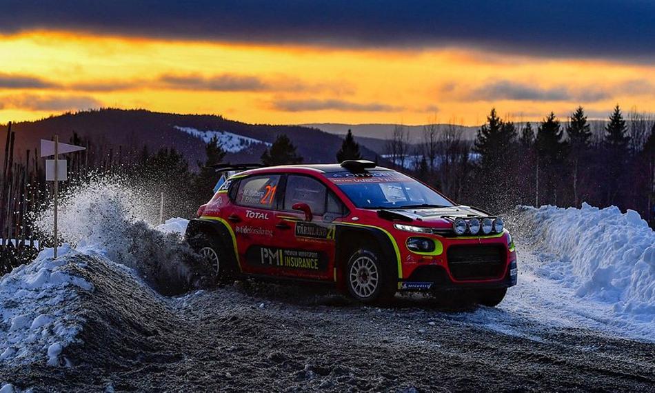 Veiby y Østberg marcan diferencias en el Rally de Suecia y ganan en WRC2 y WRC2 Pro