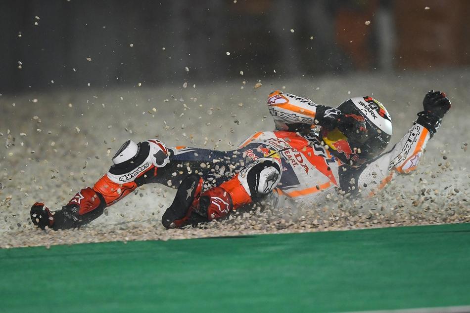 Jorge Lorenzo compitió en Qatar con una costilla fisurada