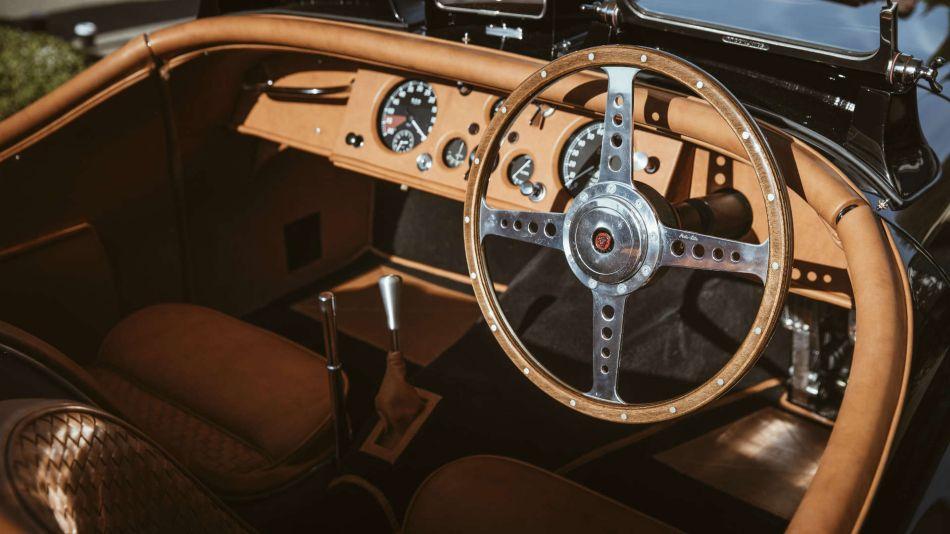 Jaguar XK120 Roadster del modelo David Gandy