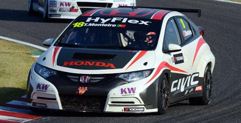 Monteiro contento de conseguir los primeros puntos para Honda