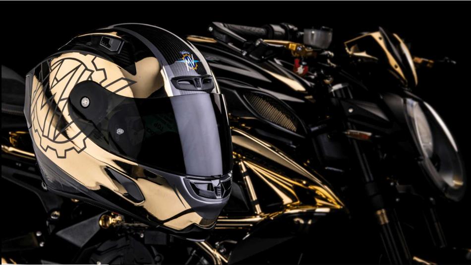 La deslumbrante MV Agusta Dragster RC Shining Gold