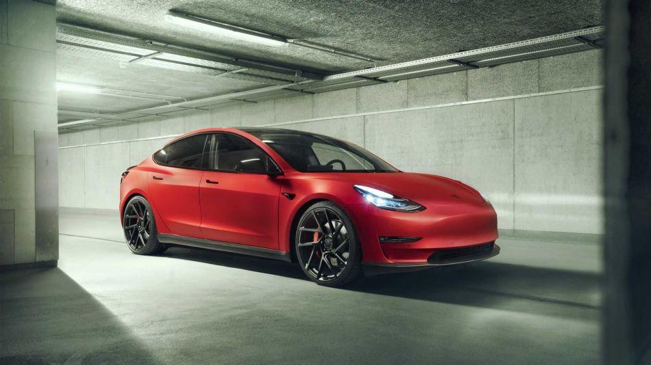 Novitec presenta un paquete para el Tesla Model 3