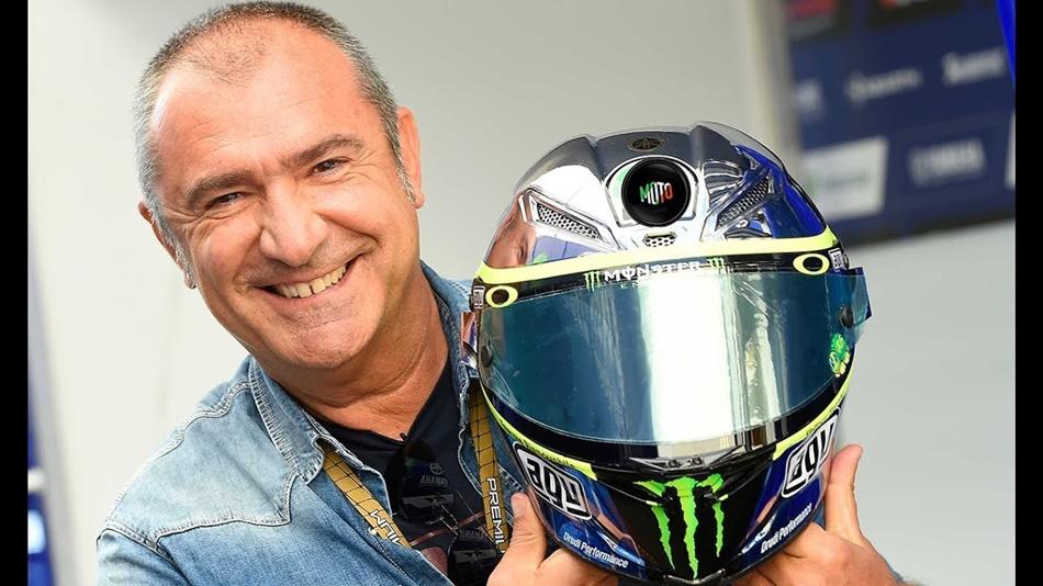 """Aldo Drudi: """"Tarde o temprano habrá que pensar un casco para la despedida de Rossi"""""""