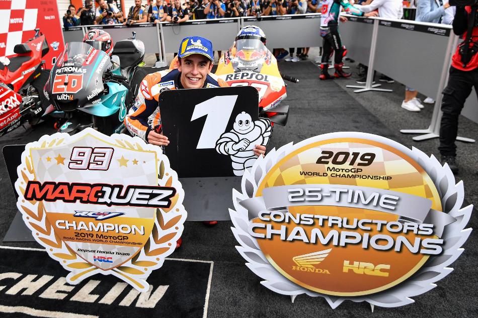 Marc Márquez, décima victoria y título de constructores en casa de Honda