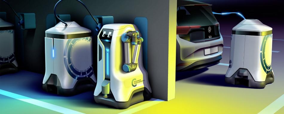 Conoce el robot autónomo que carga los coches eléctricos